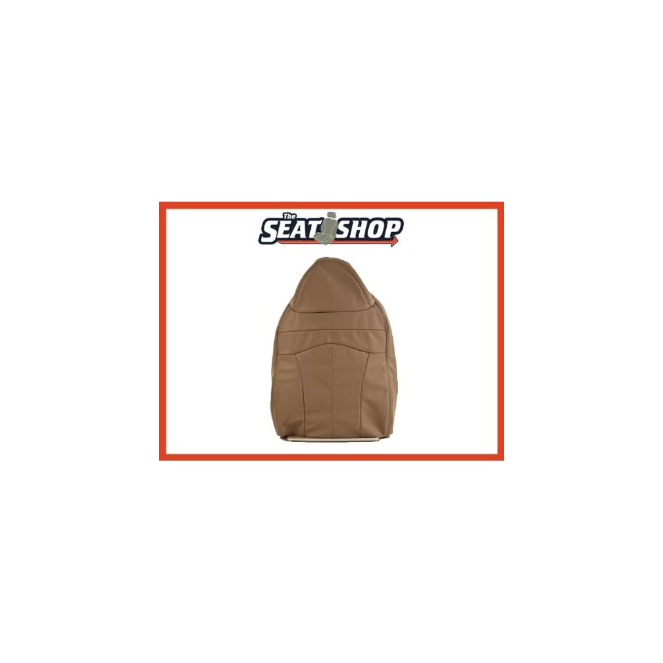 99 Ford F150 Lariat Bucket Prairie Tan Leather Seat Cover P2 RH top