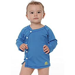 Nozone\'s Sun Protective UPF 50+ Baby Beach Cover-Up Wrap in Smurf, 0-6 mo.