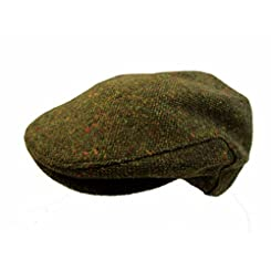 John Hanly & Co. Irish Tweed Flat Cap - Green Donegal Fleck