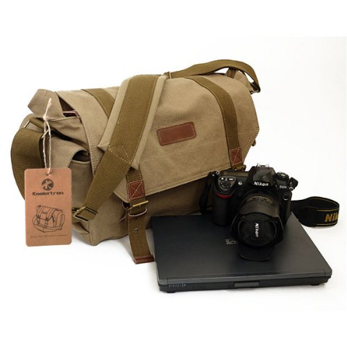 Koolertron Multi Function Canvas DSLR SLR Vintage Camera Shoulder Case Backpack photography Bag Rucksack Bag for Sony Canon Nikon Olympus DSLR Laptop,Computer,The ipad 3,The new ipad Google Nexus 7 inch Microsoft Surface 7 inch 10 inch etc.----Yellow Color 40x25x18cm