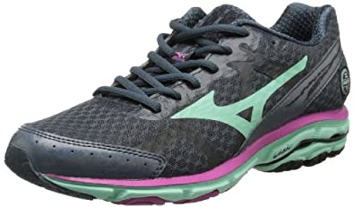 Mizuno Women's Wave Rider 17 Running Shoe,Dark Slate,6 B US