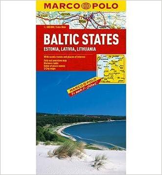 "Baltic States (Estonia, Latvia & Lithuania) Marco Polo Map (Marco Polo Maps) (""Sheet map, folded"") - Common"