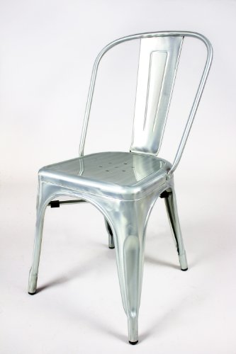 SuzannRui: Buy Now Marais Brush Galvanized Finish Steel Chair
