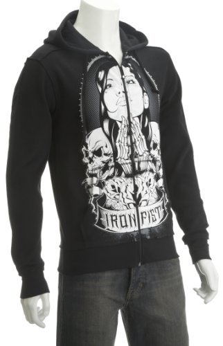 Iron Fist Santa Muerte Hoody Mens Jumper Black X-Large