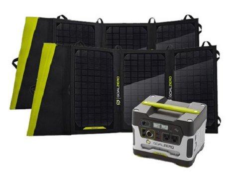 Goal Zero Yeti 400 Solar Generator Kit With 2 X Nomad 20