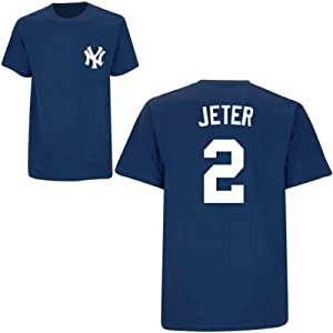 Derek Jeter New York Yankees Navy Youth Player T-Shirt by Majestic by Majestic