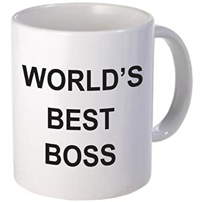 WORLD'S BEST BOSS Coffee Mug by Rikki Knight LLC from Rikki Knight LLC