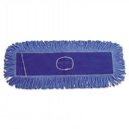 Boardwalk 1124 Mop Head, Dust, Looped-End, Cotton & Synthetic Fibers, 24 x 5 in., Blue