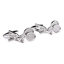 Three Keys Jewelry Men Tennis Alloy Cufflinks Silver Plated Fashion Sport Style Cuff GD-2704