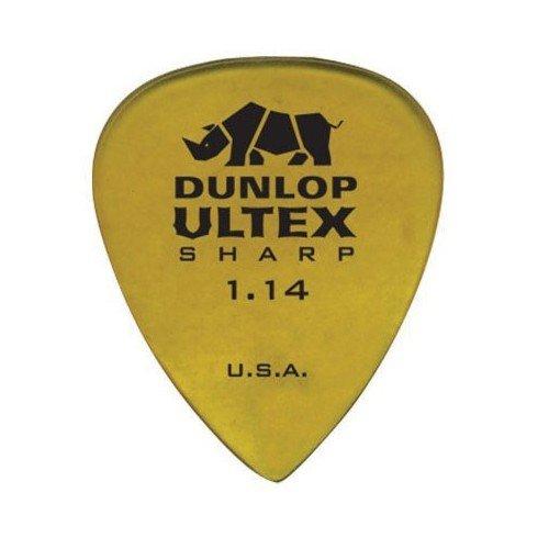 Dunlop 3 Sharp Ultex Plektren - 433R114 1,14 mm