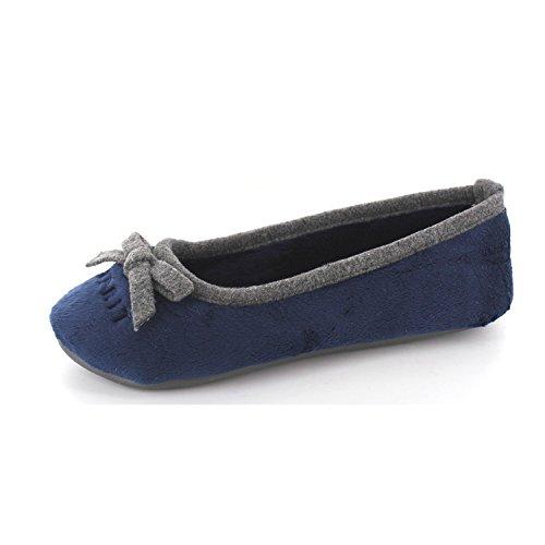 ESPRIT Damen Ellis Ballerina Flache Hausschuhe, Blau (406 Dark Blue), 41 EU thumbnail