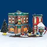 Department 56 Snow Village Saturday Morning Downtown Start a tradition Kringle's Toy Shop, Nikki's Cocoa shop 8 piece set