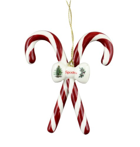 Spode Candy Canes Tree Ornament