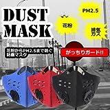 [Present-web] PM2.5 防塵マスク ほこり ハウスダスト 活性炭 フィルター アウトドア 花粉症 対策 【レッド】