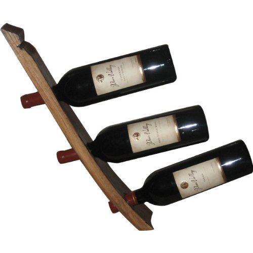 Handmade Wooden Triple Wine Bottle Holder