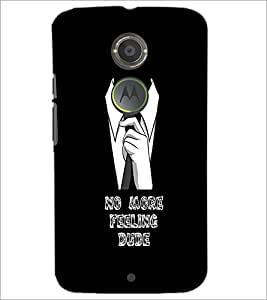 PrintDhaba Quote D-1106 Back Case Cover for MOTOROLA MOTO X2 (Multi-Coloured)