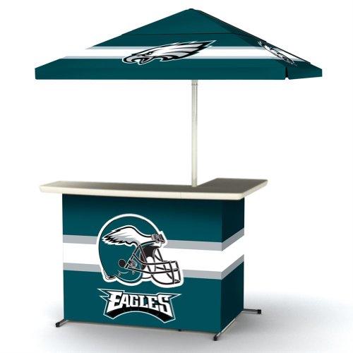 Nfl Philadelphia Eagles Portable Wheeled Bag Travel L-Shape Umbrella Basic Bar