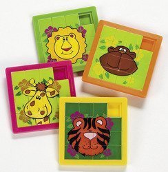 Zoo Animal Slide Puzzles (1 Dozen) - 1