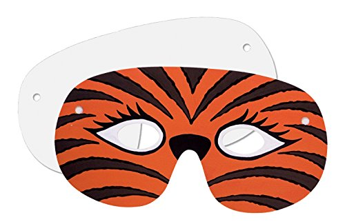 Creativity Street 4650 Die Cut Paper Masks, 7 1/2 x 3 1/2, White, 50 per Pack (CKC4650)