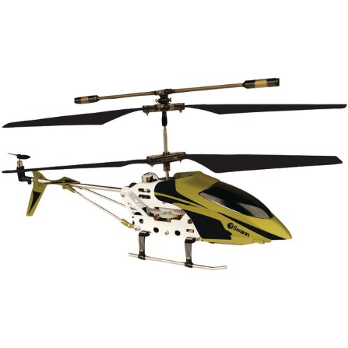 MICRO LIGHTNING BLACK/GOLD LIGHT & FAST HELICOPTER (Catalog Category: IMPORT PRODUCTS / TOYS)