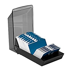 Rolodex® Covered VIP® Black Index Card File, 4 13/16\