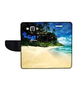 KolorEdge Printed Flip Cover For Samsung Galaxy A5 -Multicolor (50KeMLogo11302SamA5)