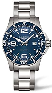 Longines Hydroconquest Men's Quartz Watch with Blue Dial Analogue Display and Silver Stainless Steel Bracelet L36404966