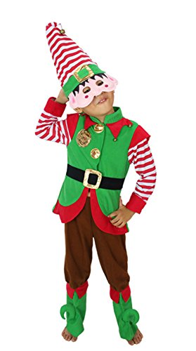 Meilaier Kids Elf Christmas Outfit Party Clothing Halloween Santa Costume