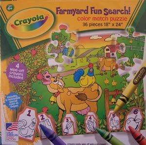 Crayola Farmyard Fun Color Match 36 Piece Puzzle