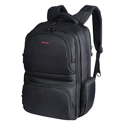 Langforth 15.6 Laptop Backpack Large Capacity Carry-on Travel Bags Water Resistant, Black