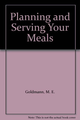 Planning and Serving Your Meals PDF