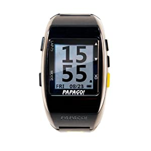 PAPAGO GLW-HB-US GoWatch 770 Multi-Sports GPS Watch with ANT+ Heart Rate Monitor (Yellow)