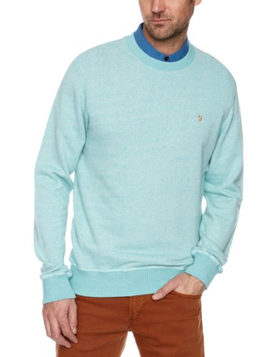 Farah Vintage The Dempsey Men's Jumper Peacock Large