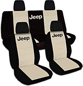 Amazon.com: Jeep Wrangler JK (2011 to 2015) Two-Tone Seat Covers with