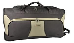 5 Cities 33 Large Chocolate And Beige Ripstop Material Wheeled Holdall Trolley Bag Only 325kg And 115l Capacity