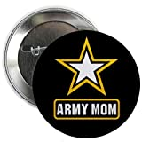 Salute to US Military ARMY MOM on a 2.25 inch Pinback Button Badge