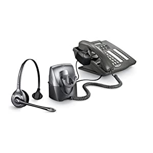 Plantronics CS351N Monaural SupraPlus Wireless Professional Headset System Noise-Canceling with HL10 Handset Lifter