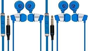 Jiyanshi Samsung galaxy S5 Neo Compatible Combo of Stylish Earphone With Deep Bass (Blue)