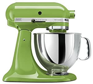 KitchenAid KSM150PSGA Artisan Series 5-Quart Stand Mixer, Green Apple