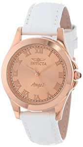 """Invicta Women's 14806 """"Angel"""" 18k Rose Gold Ion-Plated Watch with Interchangeable Leather Bands"""
