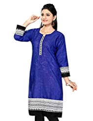 Desi Aura Women's Ethnic Straight Fit Cotton Long Kurtis