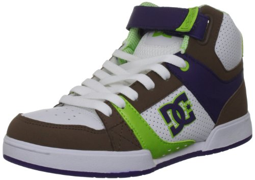 DC Shoes Tricky Mid D0303061, Damen Sportschuhe – Skateboarding, Weiß (White/Soft Lime), 37 EU / 4 UK