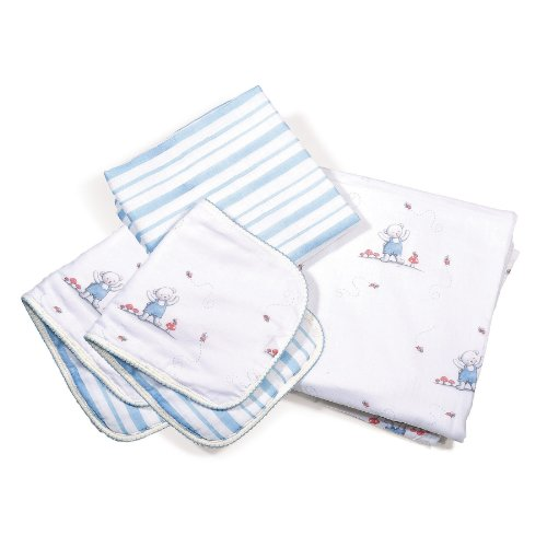 Bunnies By The Bay Blankets and Burp Cloths Cuddle Me Set - 1