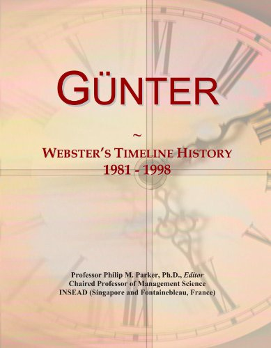 Günter: Webster's Timeline History, 1981 - 1998