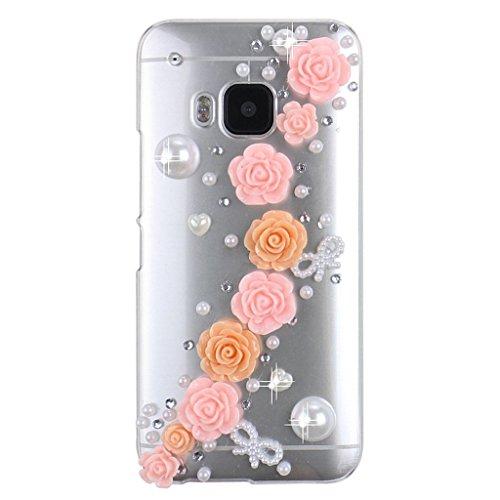 htc-one-m9-custodia-evtech-tm-3d-handmade-lusso-bling-fiore-di-cristallo-con-glitter-strass-e-perla-