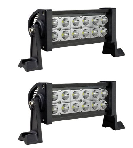 "Mictuning 2× Combo Spot/Flood Beam 10-30V 7.5"" 36W Led Lights Bar Super Bright 2500 Lumen 2¡Á4 Off Road Atv Suv Jeep"