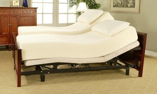 sleep science 10 memory foam split king mattress with adjust