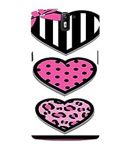 PrintVisa Cute Hearts Art 3D Hard Polycarbonate Designer Back Case Cover for One Plus One