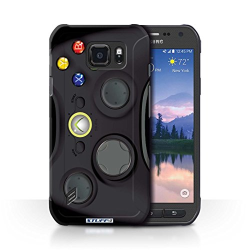 STUFF4 Phone Case / Cover for Samsung Galaxy S6 Active/G890 / Black Xbox 360 Design / Games Console Collection