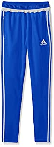 adidas Performance Boys Tiro Pants, Blue/White/Blue, Large